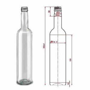 бутылка-Pudel-0,5L-Reconica-B28-15шт